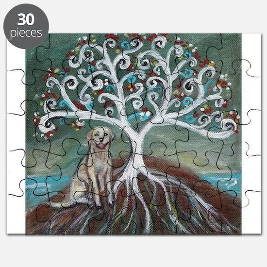 Yellow Labrador Tree of Life Puzzle