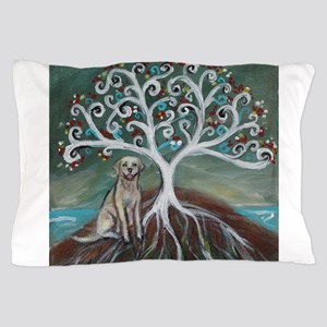 Yellow Labrador Tree of Life Pillow Case