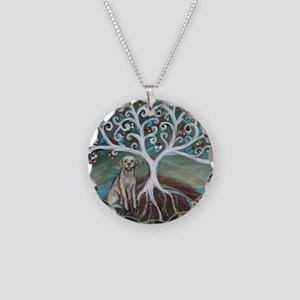 Yellow Labrador Tree of Life Necklace