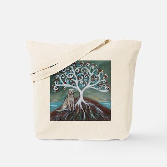 Yellow Labrador Tree of Life Tote Bag