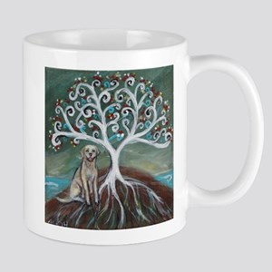 Yellow Labrador Tree of Life Mugs