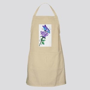 Purple Rose with Butterfly Apron