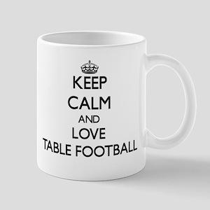 Keep calm and love Table Football Mugs