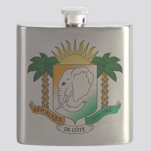 Ivory Coast or Cote d'Ivoire Coat of Arms Flask