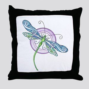 Whimsical Dragonfly Throw Pillow