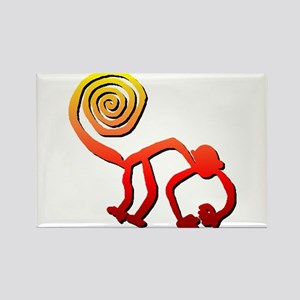 Nazca Monkey (sunset) Rectangle Magnet