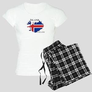 IcelandFlagMap Pajamas