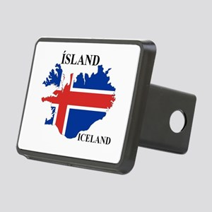 IcelandFlagMap Hitch Cover