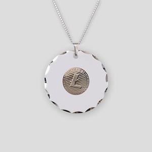 Litecoin Necklace Circle Charm