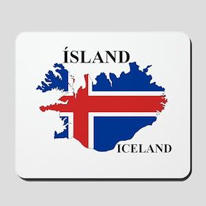 IcelandFlagMap Mousepad
