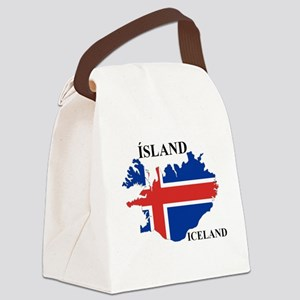 IcelandFlagMap Canvas Lunch Bag