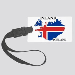 IcelandFlagMap Luggage Tag