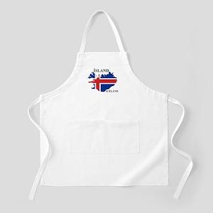 IcelandFlagMap Apron