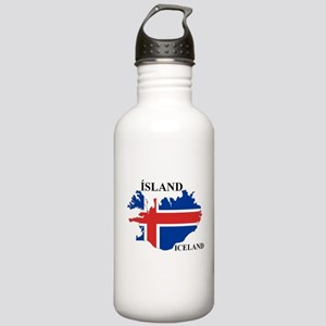 IcelandFlagMap Water Bottle