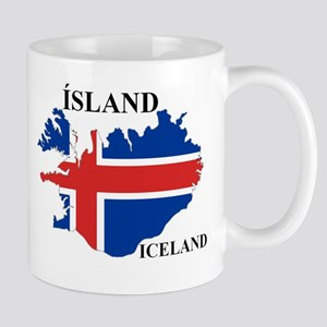 IcelandFlagMap Mugs