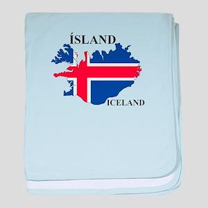 IcelandFlagMap baby blanket