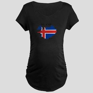IcelandFlagMap Maternity T-Shirt