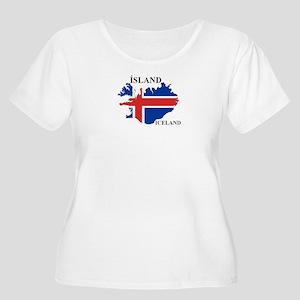 IcelandFlagMap Plus Size T-Shirt