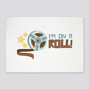 Im on a Roll 5'x7'Area Rug