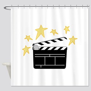 Action Clapperboard Shower Curtain