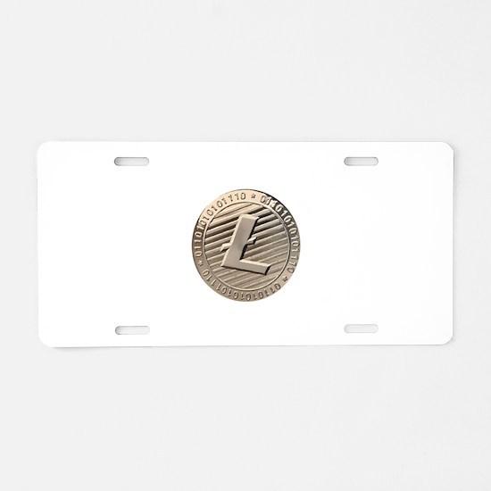 Litecoin Aluminum License Plate