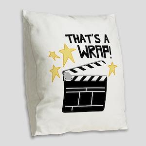 Thats a Wrap Burlap Throw Pillow