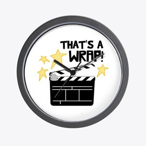 Thats a Wrap Wall Clock