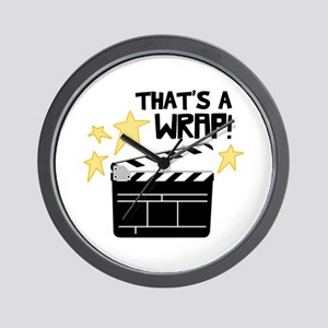 Thats a Wrap Wall Clock
