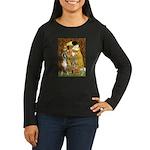 The Kiss & Boxer Women's Long Sleeve Dark T-Shirt