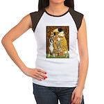 The Kiss & Boxer Women's Cap Sleeve T-Shirt