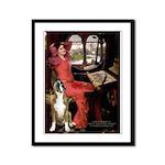 Lady & Boxer Framed Panel Print