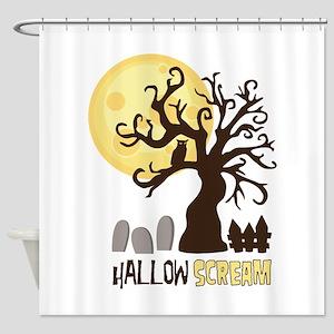 Hallow Scream Shower Curtain