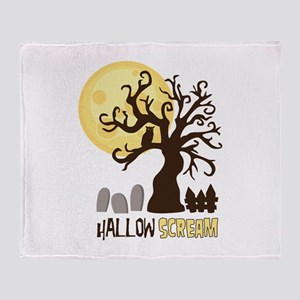 Hallow Scream Throw Blanket