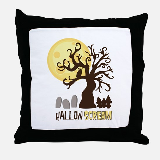 Hallow Scream Throw Pillow