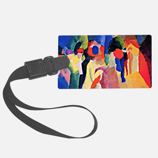 August Macke - Woman with a Yell Luggage Tag