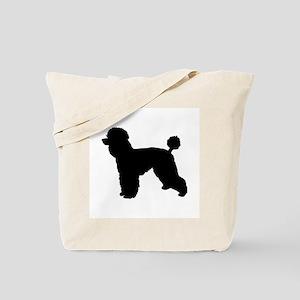 poodle black 1C Tote Bag