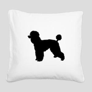 poodle black 1C Square Canvas Pillow
