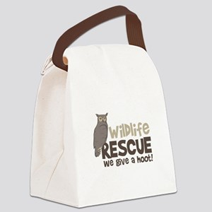 Wildlife Rescue We give a hoot! Canvas Lunch Bag