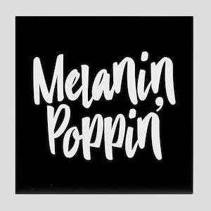 Melanin Poppin Tile Coaster