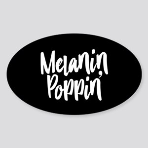 Melanin Poppin Sticker (Oval)