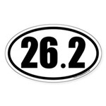 26.2 Oval Car Sticker