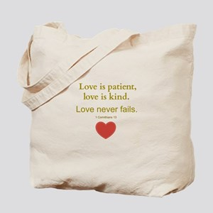 Love is Patient, Love is Kind Tote Bag