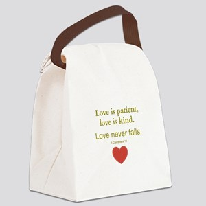 Love is Patient, Love is Kind Canvas Lunch Bag