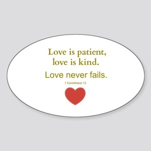 Love is Patient, Love is Kind Sticker