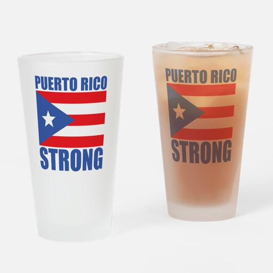 Funny Puerto rican flag Drinking Glass