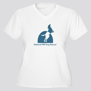 National Mill Dog Women's Plus Size V-Neck T-Shirt