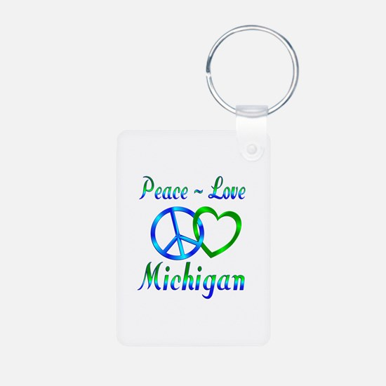 Peace Love Michigan Keychains