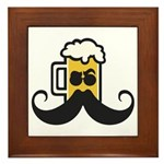 Beer Mustache Framed Tile