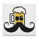 Beer Mustache Tile Coaster