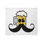Beer Mustache Throw Blanket